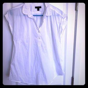 J Crew cotton popover blouse